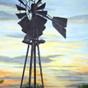 Windmill Capture The Wind Art Print