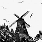 Windmill Art Print
