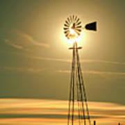 Windmill In Colorado Art Print