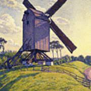 Windmill In Flanders Art Print