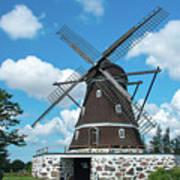 Windmill In Fleninge,sweden Art Print