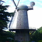 Windmill In Golden Gate Park Art Print