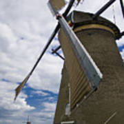 Windmill In Motion Art Print