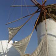 Windmill On Mykonos Art Print