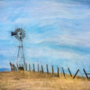 Windmill On The Hill Art Print