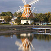 Windmill Reflections Wm2014 Art Print