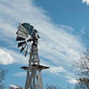 Windmill With White Wood Base Art Print
