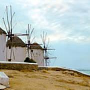 Windmills Of Mykonos I Art Print
