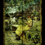 Window - Lady In Garden Art Print