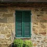 Window #3 - Cinque Terre Italy Art Print