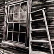 Window And Ladder Art Print