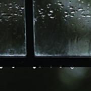 Window And Raindrops Art Print