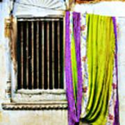 Window and Sari Art Print