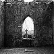 Window At Fuerty Church Roscommon Ireland Print by Teresa Mucha