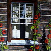 Window At Upper Canada Village Art Print