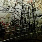 Window Drawing 02 Art Print by Grebo Gray