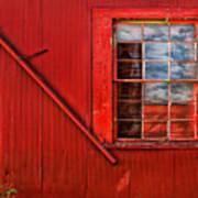 Window In Red Art Print