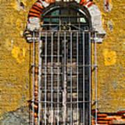 Window In The Yellow Wall By Darian Day Art Print