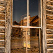 Window Into The Montana Past Art Print