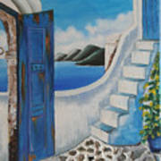 Window To Aegean Art Print