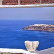 Window View To The Mediterranean Art Print
