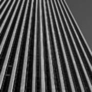 Window Washers View - Black And White Art Print