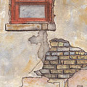 Window With Crumbling Plaster Art Print