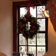 Window Wreath Art Print
