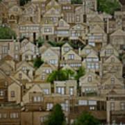 Windows Of Bernal Heights Art Print