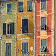 Windows Of Portofino Art Print by Joana Kruse