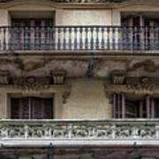 Windows Over Barcelona Art Print