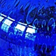 Windows Reflected On A Blue Bowl 3 Art Print
