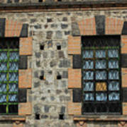 Windows With Steel Grates Art Print
