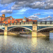 Windsor Bridge River Thames Art Print