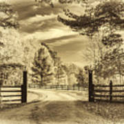 Windstone Farm - Sepia Art Print