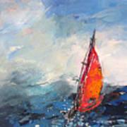 Windsurf Impression 04 Art Print