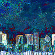 Windy Chicago Illinois Skyline Party Nights 20180516 Art Print
