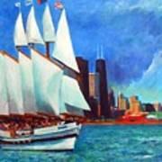 Windy In Chicago Art Print