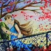 Windy Kiss Art Print