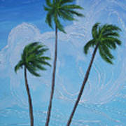 Windy Palms Art Print