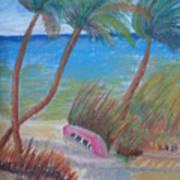Windy Palms Art Print