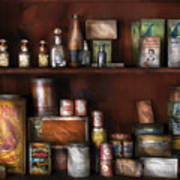 Wine - Rum And Tobacco Art Print by Mike Savad