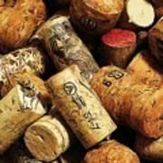 Wine And Champagme Corks Art Print