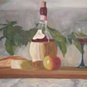 Italian Wine And Cheese Art Print
