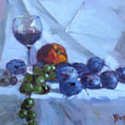 Wine And Fresh Fruits Art Print