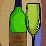 Wine And Glass Art Print