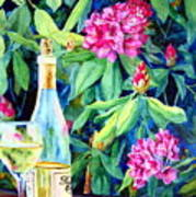 Wine And Rhodies Art Print