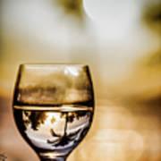 Wine And Sunset Art Print