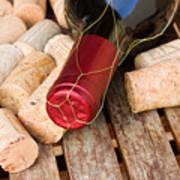 Wine Bottle And Corks Art Print