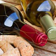 Wine Bottles Art Print